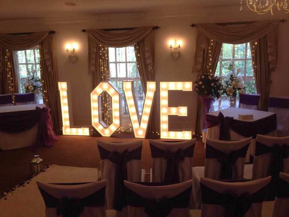 Love Illuminated LED Letters Manchester