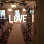 Love Illuminated LED Letters Manchester Wedding