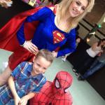 Supergirl, Spiderman & Harvey